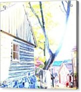 It Was A Sunny Day In The Old City  Acrylic Print