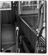 Trolley 28 Leaver Black And White Acrylic Print