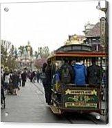 Trolley Car Main Street Disneyland 03 Acrylic Print