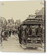 Trolley Car Main Street Disneyland Heirloom Acrylic Print