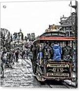 Trolley Car Main Street Disneyland Sc Acrylic Print