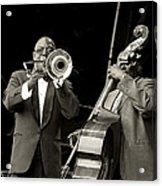 Trombone And Bass Acrylic Print by Tony Reddington