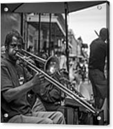 Trombone In New Orleans 2 Acrylic Print by David Morefield