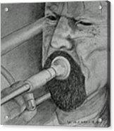 Trombone-the Trombonist Acrylic Print