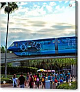 Tron Monorail At Walt Disney World Acrylic Print by Thomas Woolworth