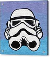 Trooper On Purple Acrylic Print by Jera Sky