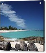 Tropic Of Cancer Beach Exuma Bahamas Acrylic Print