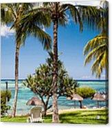 Tropical Beach. Mauritius Acrylic Print