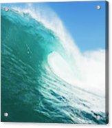 Tropical Blue Ocean Wave Acrylic Print