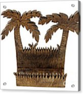 Tropical Business Card Holder Acrylic Print by Lee Serenethos