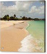 Tropical Caribbean Beach Acrylic Print