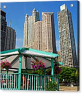 Tropical Chicago Acrylic Print