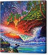 Tropical Color Mosaic Acrylic Print