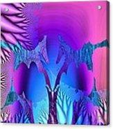 Tropical Fractal Acrylic Print