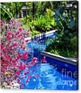 Tropical Garden Around Pool Acrylic Print