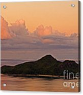 Tropical Island At Sunset Acrylic Print