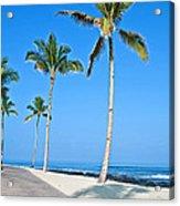 Tropical Island Beach And Sidewalk Art Prints Acrylic Print