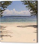 Tropical Island Beach Acrylic Print