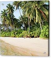 Tropical Island Beach Scenery Acrylic Print