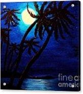 Tropical Moon On The Islands Acrylic Print