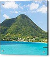 Tropical Panorama In The Caribbean Acrylic Print