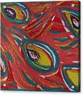 Tropical Peacock Acrylic Print by Jennifer Schwab