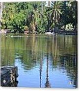 Tropical Reflection Acrylic Print by Kiros Berhane