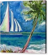 Tropical Sails Acrylic Print