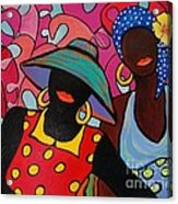Tropical Sisters Acrylic Print by Deborah Glasgow