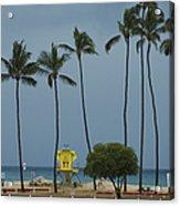 Tropical Storm Flossie Kapukaulua Beach Paia Maui Hawaii 2013 Acrylic Print