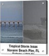 Tropical Storm Isaac Difference In A Day Acrylic Print