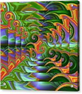 Tropical Swirls Layered Acrylic Print