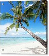 Tropical White Sand Beach Acrylic Print