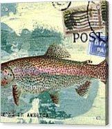 Trout Fishing In America Postcard Acrylic Print