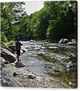 Trout Fishing Acrylic Print