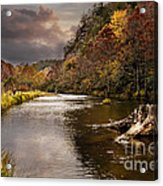 Trout Fishing Acrylic Print by Tamyra Ayles