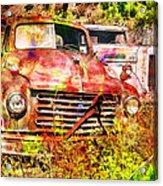 Truck Abstract Acrylic Print by Robert Jensen