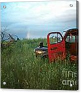 Truck And Rainbow Acrylic Print