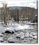 Truckee River At Christmas Acrylic Print by Denice Breaux