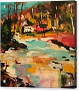 Truckee River Impression Acrylic Print