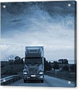 Trucking Late At Night Acrylic Print