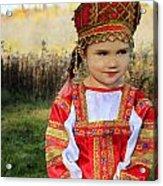 Russian Girl Acrylic Print