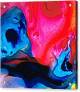 True Colors - Vibrant Pink And Blue Painting Art Acrylic Print