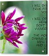 True Face - Poem - Flower Acrylic Print
