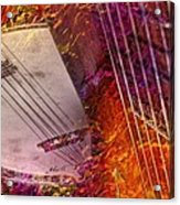 Truly Southern Digital Banjo And Guitar Art By Steven Langston Acrylic Print by Steven Lebron Langston
