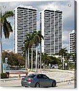 Trump Plaza In Downtown West Palm Beach Skyline Acrylic Print