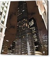 Trump Tower Chicago At Night Acrylic Print