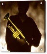 Man Holding Trumpet 1 Acrylic Print