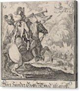 Trumpet, Caspar Luyken, Anonymous Acrylic Print