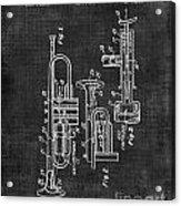Trumpet Patent Acrylic Print